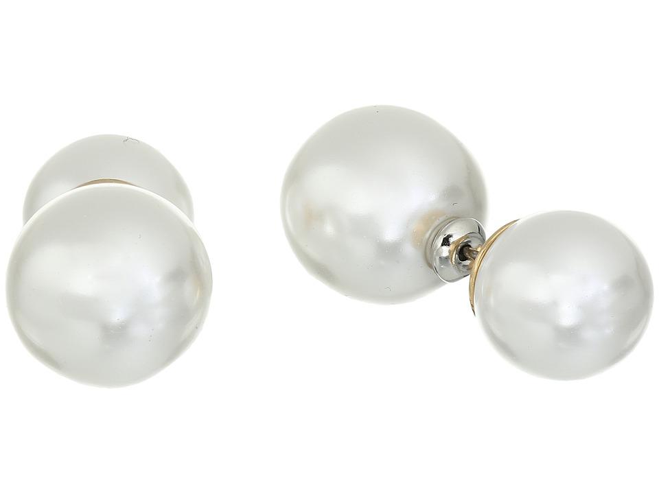 Kenneth Jay Lane - 7494EPP Earrings (White Pearl) Earring