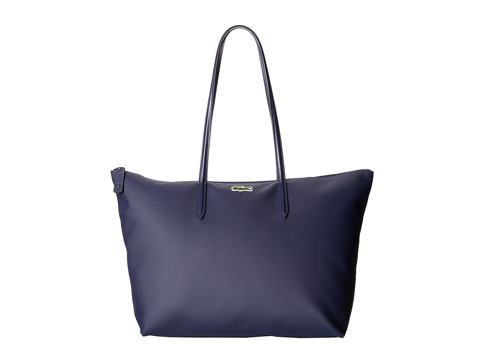 Lacoste - L.12.12 Concept Large Shopping Bag (Shadow Blue) Tote Handbags