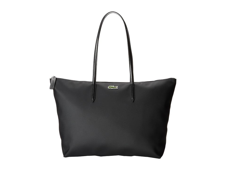 Lacoste - L.12.12 Concept Large Shopping Bag (Black) Tote Handbags