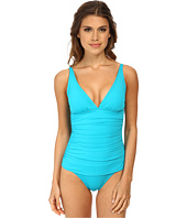 Tommy Bahama - Pearl Over The Shoulder V-Neck Cup One-Piece