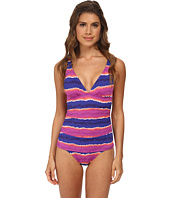 Tommy Bahama - Paint Stripe Over The Shoulder V-Neck One-Piece