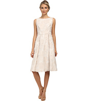 Adrianna Papell - Burnout Netting Classic Pleat Dress