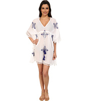 Tommy Bahama - Embroidered Tunic with Tassels Cover-Up