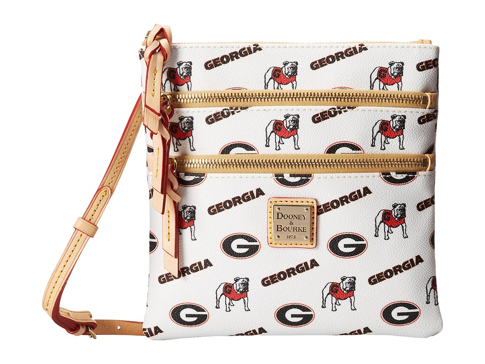Dooney & Bourke - Collegiate No/So Triple Zip (White Georgia) Cross Body Handbags
