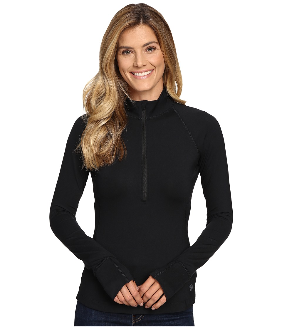 Mountain Hardwear Butterlicioustm Long Sleeve 1/2 Zip Top (Black) Women