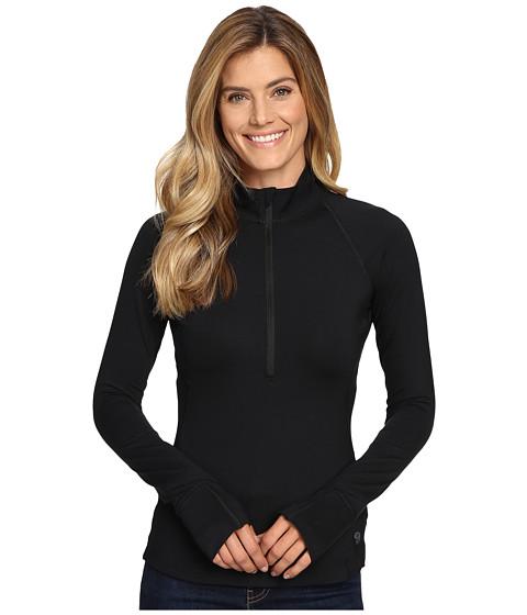 Mountain Hardwear Butterlicious™ Long Sleeve 1/2 Zip Top - Black
