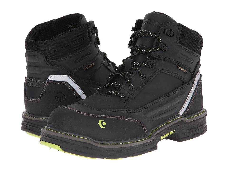 Wolverine Overman 6 Composite Toe Boot (Black/Grey) Men