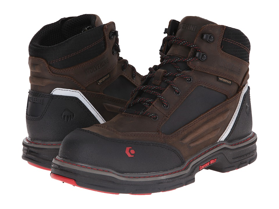 Wolverine Overman 6 Composite Toe Boot (Brown/Black) Men