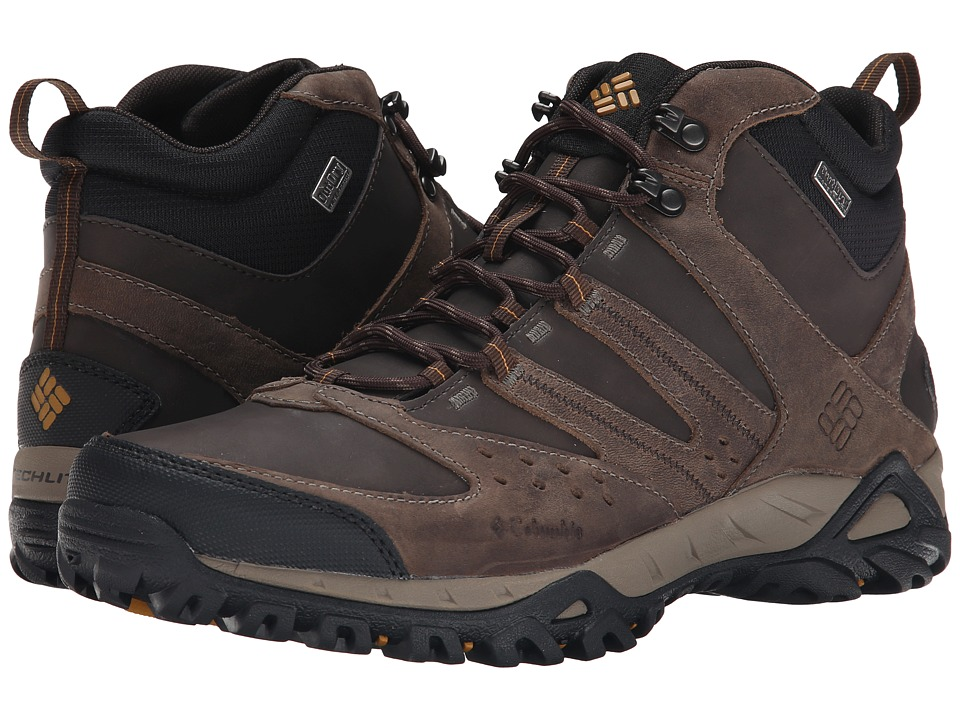 Columbia - Peakfreak XCRSN Mid Leather Outdry (Mud/Caramel) Men