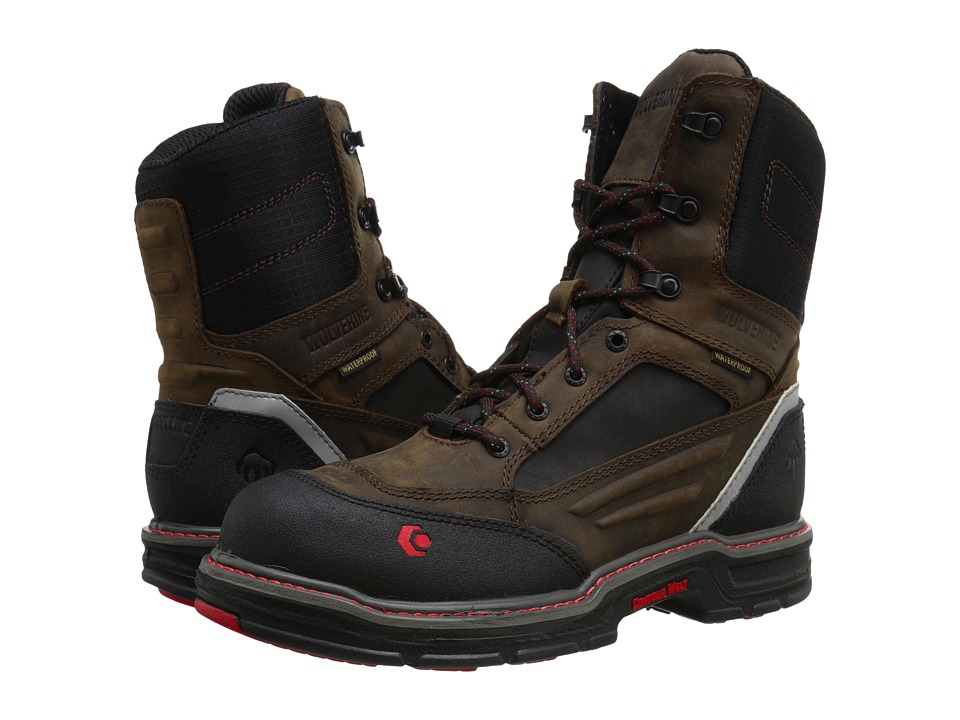 Wolverine Overman 8 Composite Toe Boot Brown/Black Mens Work Boots