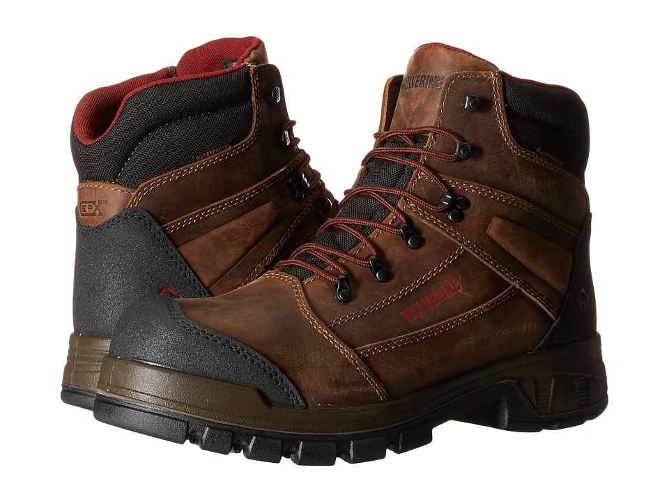 Wolverine Renton LX 6 Composite Toe Boot Brown Mens Work Boots