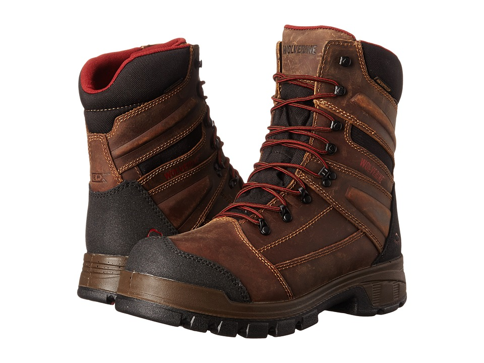 Wolverine Renton LX 8 Composite Toe Boot Brown Mens Work Boots