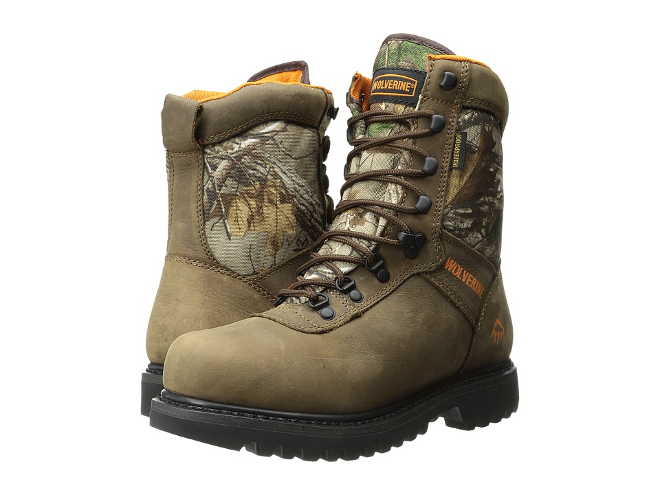 Wolverine Big Horn Plus 8 Boot Brown/RealTree Mens Hiking Boots