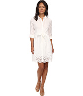 NYDJ - Josie Eyelet Cotton Voile Shirt Dress