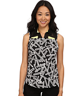 Jamie Sadock - Chopstix Print Sleeveless Top with Mesh at Shoulders