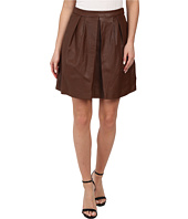 MICHAEL Michael Kors - Leather Pleat Skirt