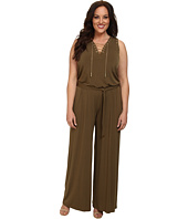 MICHAEL Michael Kors - Plus Size Sleeve Less Lace Up Jumpsuit