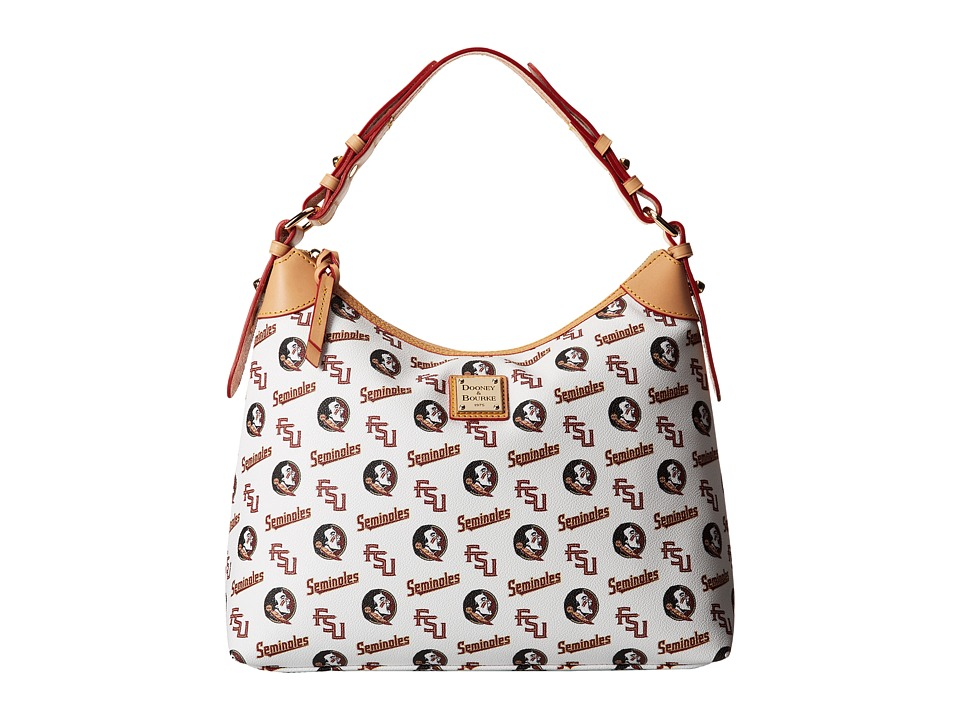 Dooney amp Bourke Collegiate Sac Hobo White Florida State Hobo Handbags