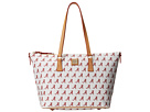 Dooney & Bourke Collegiate Zip Top Shopper