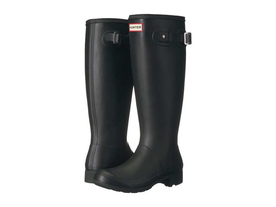 Hunter Original Tour Packable Rain Boot (Black Matte) Women