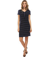 Ivy & Blu Maggy Boutique - Split Neck Striped Sweater Dress