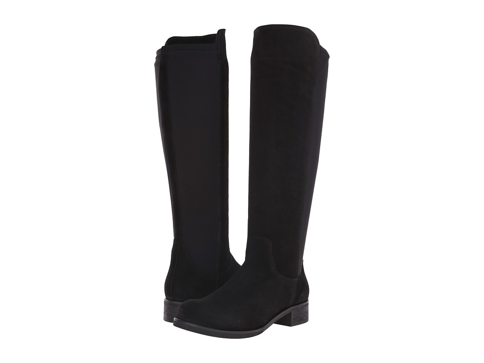 La Canadienne Celina Black Suede Womens Dress Boots
