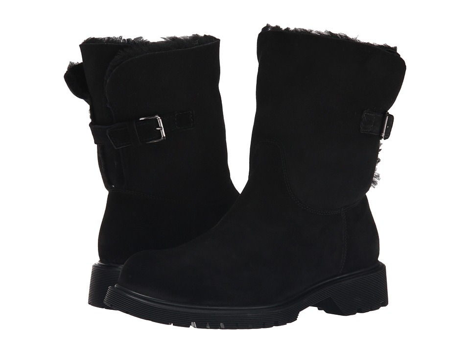 La Canadienne Honey (Black Suede/Sueded Shearling) Women