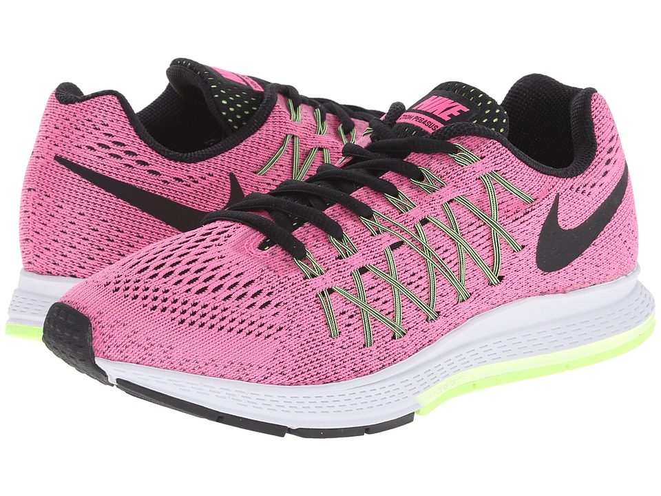 Nike - Air Zoom Pegasus 32 (Pink Pow/Barely Volt/Ghost Green/Black) Womens Running Shoes