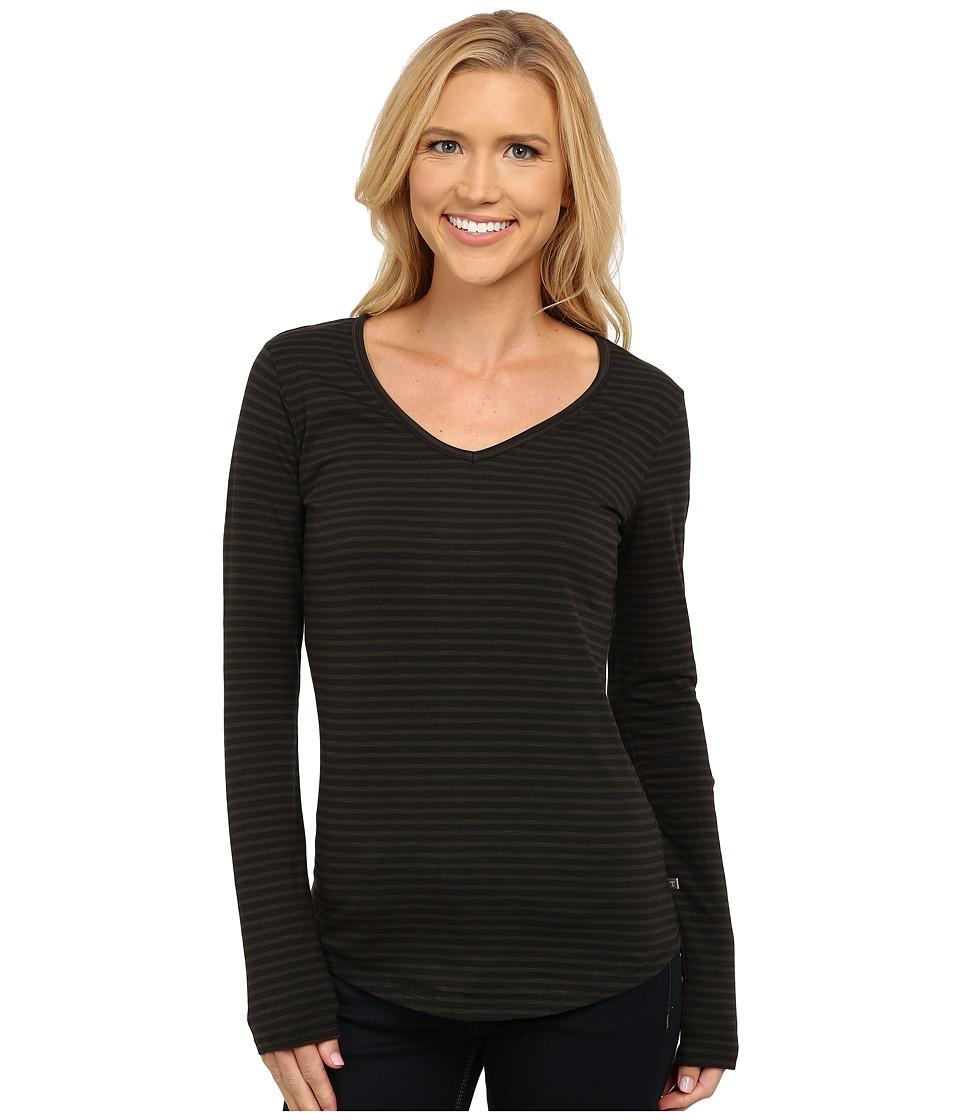 ToadampCo Marley Long Sleeve Tee Rosin Stripe Womens T Shirt