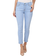 7 For All Mankind - Crop Skinny w/ Contour Waistband in Bleached Aquamarine