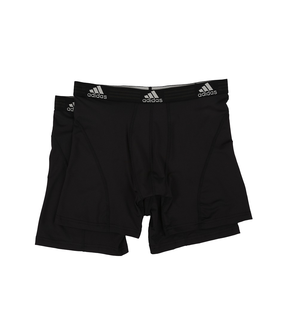 adidas Sport Performance ClimaLite 2-Pack Boxer Brief (Black/Black/Black/Black) Men