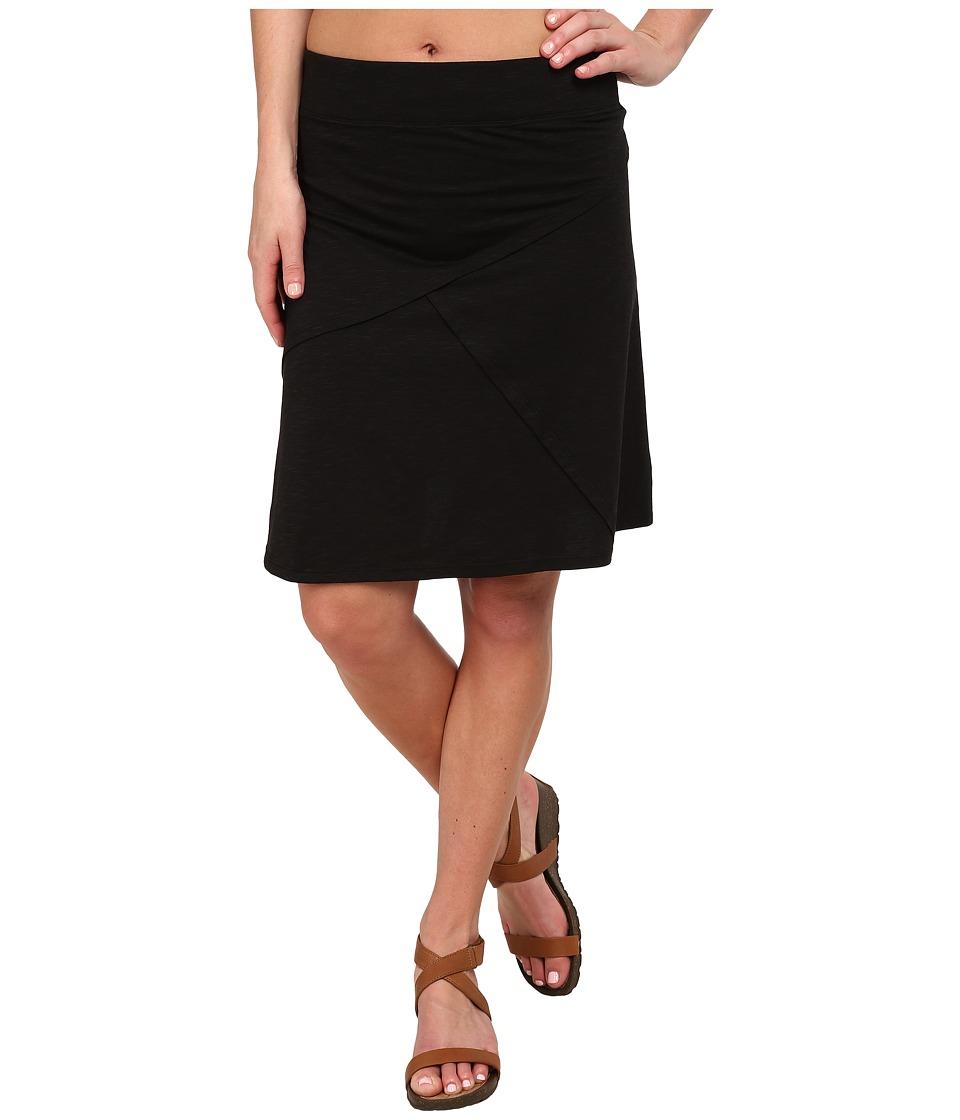 ToadampCo Oblique Jersey Knit Skirt Black Womens Skirt