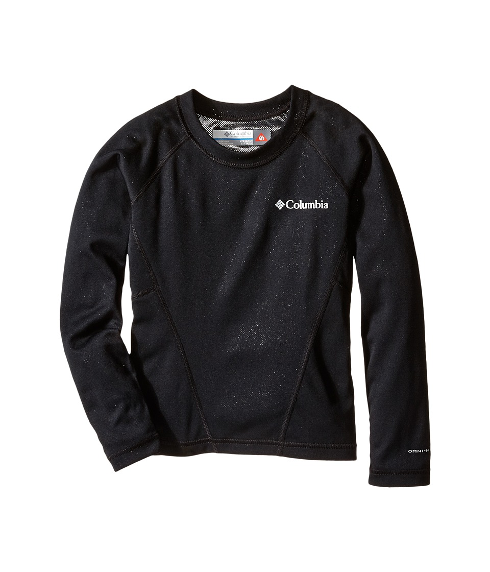 Columbia Kids Baselayer Midweight Crew Little Kids/Big Kids Black Girls Long Sleeve Pullover