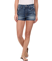 7 For All Mankind - Extreme High Waist Shorts w/ Clean Finish Hem in True Heritage Blue