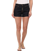 7 For All Mankind - Biancha Shorts w/ Exposed Buttons in Rich Rinse Runway Denim