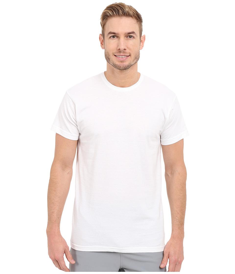 adidas - Athletic Comfort 3-Pack Crew Neck (White/White/White) Mens Short Sleeve Pullover