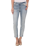 7 For All Mankind - Kimmie Crop in Slim Illusion Bright Ice Blue