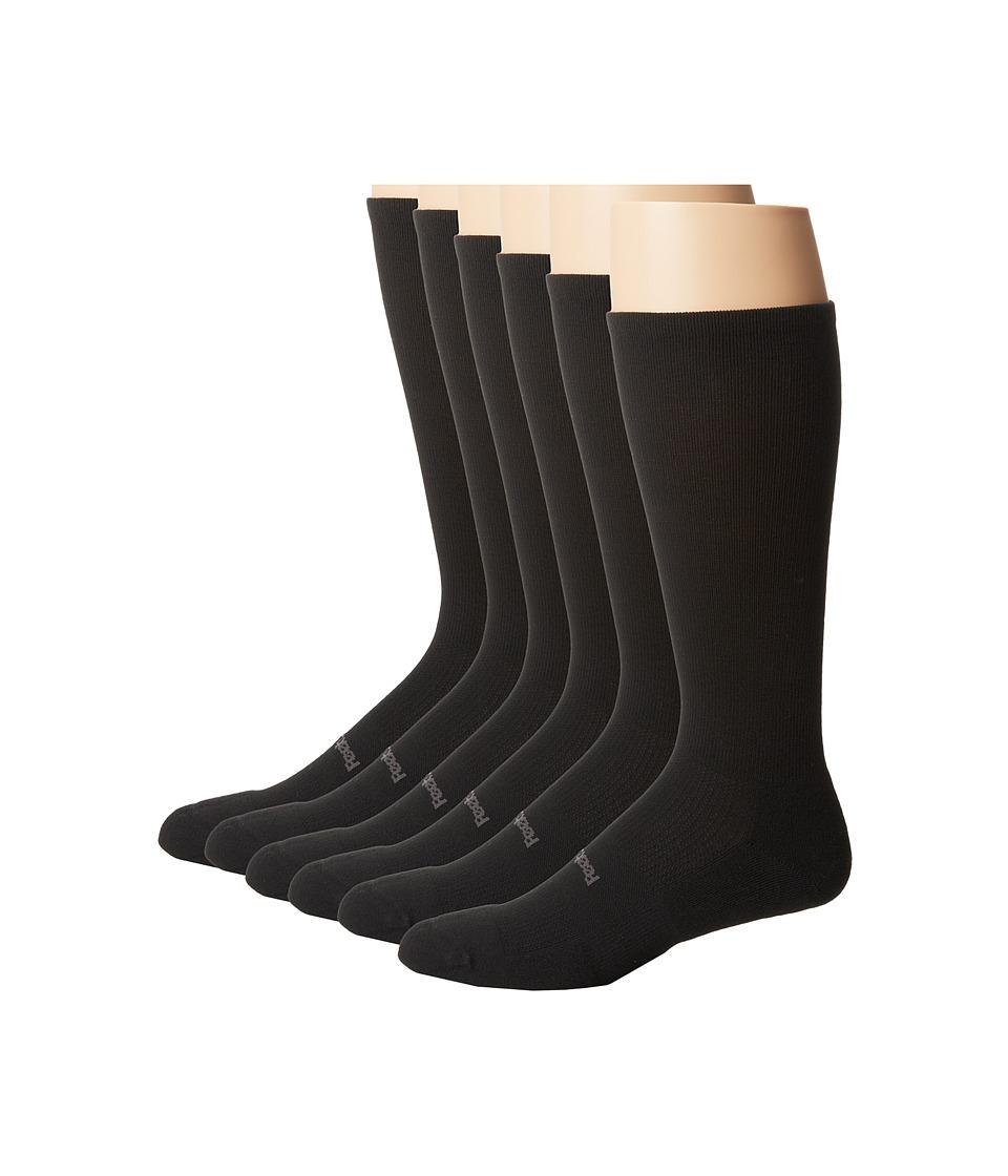 Feetures High Performance Light Cushion Crew 6 Pair Pack Black Crew Cut Socks Shoes