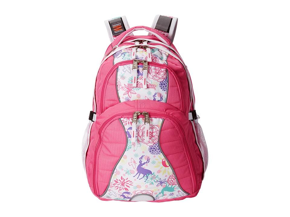 High Sierra Swerve Backpack Pink Lemonade/Wonderland/White Backpack Bags