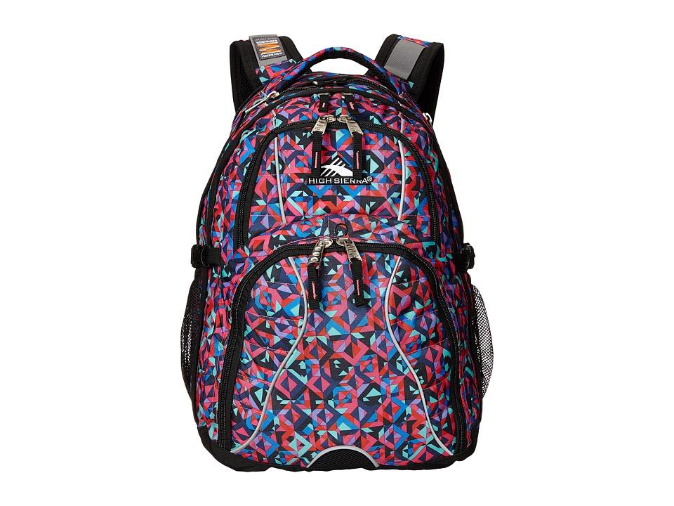 High Sierra Swerve Backpack Kaleidoscope/Black Backpack Bags