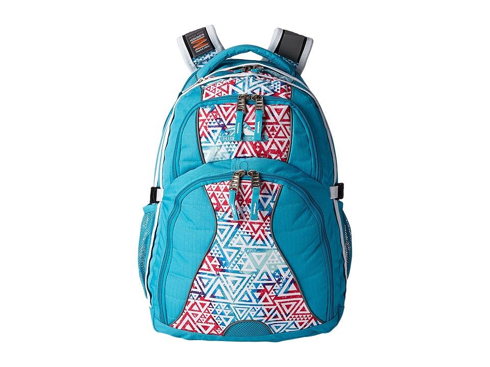 High Sierra Swerve Backpack Tropic Teal/Galaxy Tribe/White Backpack Bags