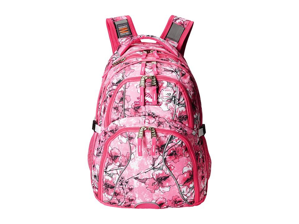 High Sierra Swerve Backpack Summer Bloom/Fuchsia/White Backpack Bags