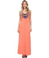 Tbags Los Angeles - Beaded Halter Maxi Dress