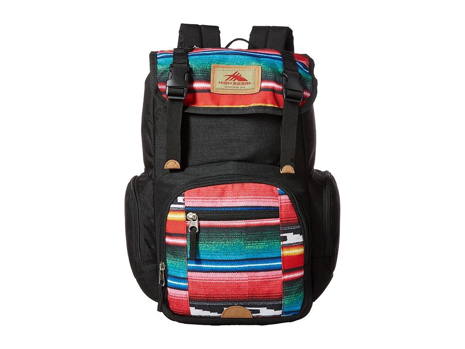High Sierra - Emmett Backpack (Black/Serape) Backpack Bags