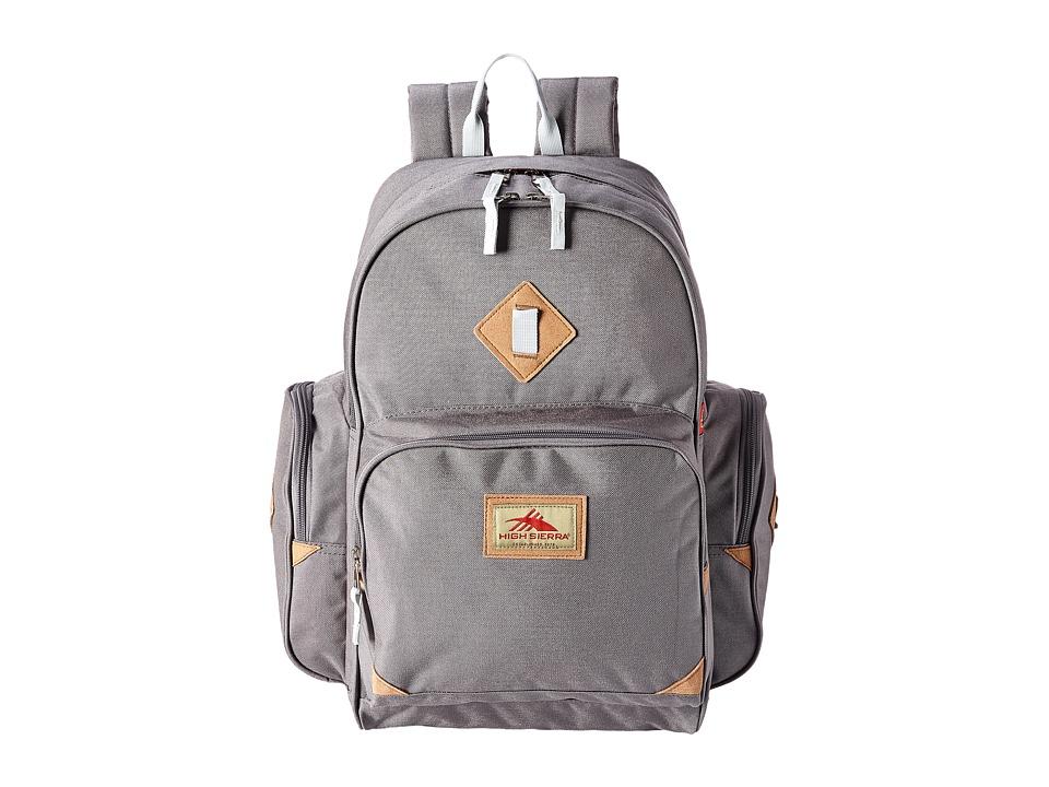 High Sierra Warren Backpack Charcoal/Silver Backpack Bags