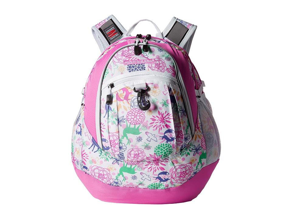 High Sierra - Fat Boy Backpack (Wonderland/Pink Lemonade/White) Backpack Bags