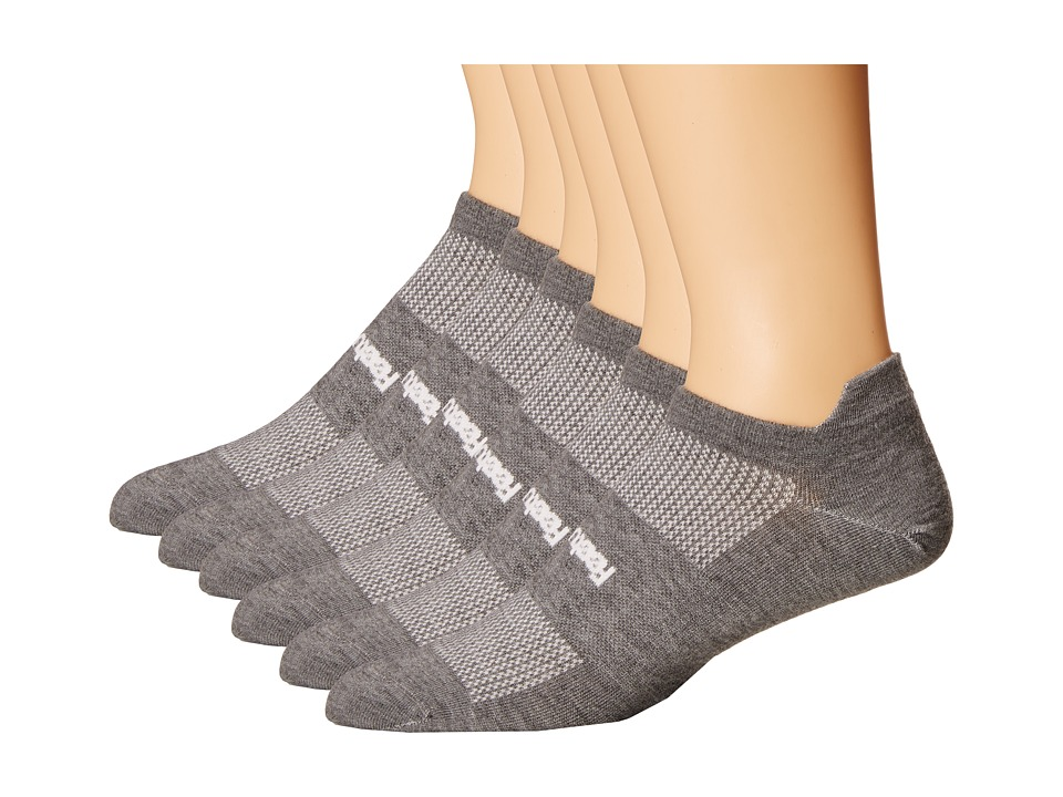 Feetures High Performance Ultra Light No Show Tab 6 Pair Pack Heather Gray 1 No Show Socks Shoes