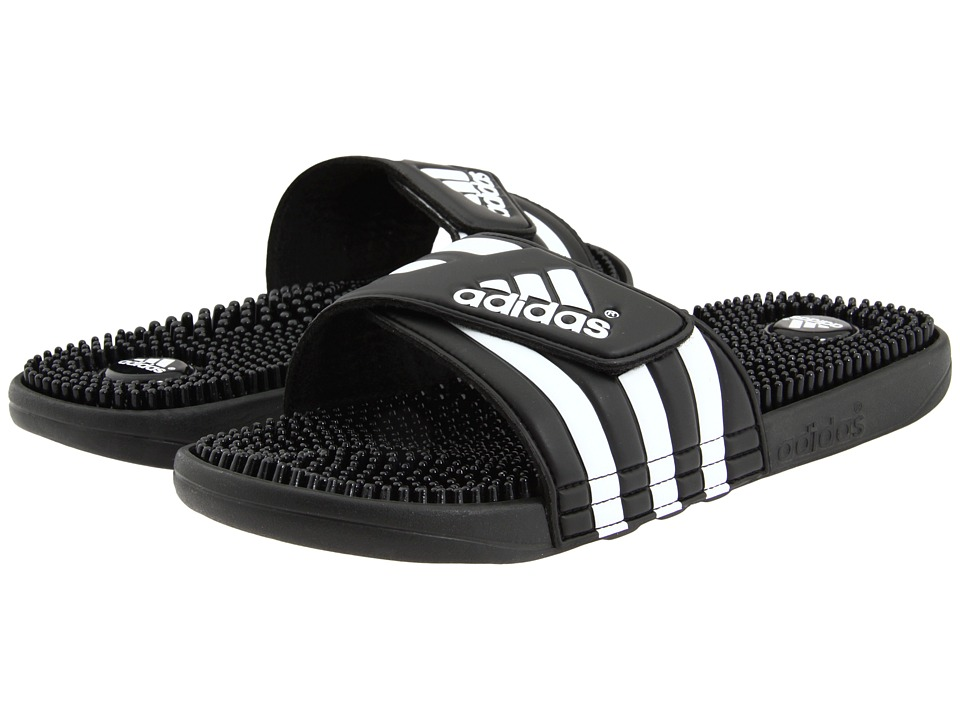 adidas adissage (Black/White) Shoes