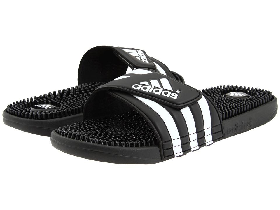 adidas - adissage (Black/White) Shoes