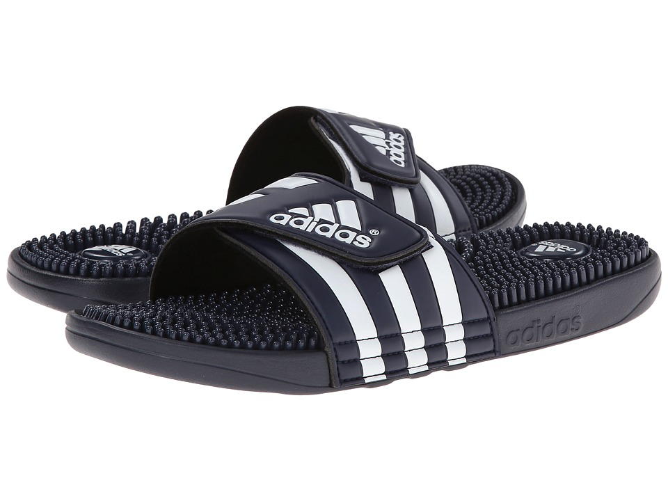 adidas adissage (New Navy/White) Shoes